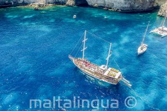Школьный тур на яхте к Кристал Бэй, Мальта