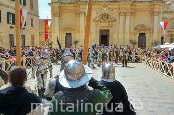 Представление битвы в Средневековой Мальте