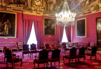 Главная комната во дворце Валлетты